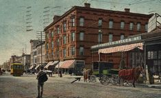 Postcard collection of Maggie Blanck  Central Avenue, Jersey City Heights, N.J.  Posted 1905