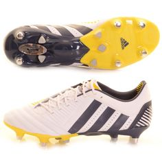 reputable site fe079 d0621 Adidas Predator Incurza XT SG Rugby Boot White, Navy and Yellow - £165.00 at