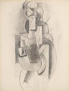 Collection Online | Pablo Picasso. Woman with Guitar (Femme à la guitare). Winter 1913–14 - Guggenheim Museum