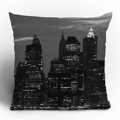 "Leonidas Oxby ""New York Financial District"" Throw Pillow"