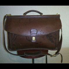 VINTAGE COACH SATCHEL BRIEFCASE VINTAGE COACH SATCHEL BRIEFCASE SIZE LARGE COLOR BROWN GENTLY USED & WELL STORED DOES HAVE WEAR BUT IF DYED BLACK COULD WIPE OUT ALL FLAWS. MY HUSBAND GOT ME A HUGE LOT OF VINTAGE COACH. KEPT WHAT I WANTED SELLING THE REST. WILLING TO DO A BUNDLE FOR THE ENTIRE COACH LOT. JUST HAVE TO ASK ;) PLEASE ASK ME TO DOUBLE CHECK BEFORE PURCHASING I SELL ON OTHER SITES. SOMETIMES THE DAY GETS BUSY ;) NO FREE SHIPPING FIRM I ANSWER ?'s 6:30AM - 8:30PM PACIFIC TIME WHEN…