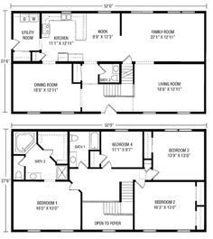 2 Story House Floor Plans unique simple 2 story house plans #6 simple 2 story floor plans