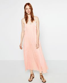 LINEN DRESS WITH SIDE DETAILS