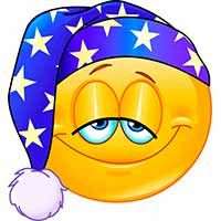 Sleeping cap Copy Send Share Send in a message, share on a timeline or copy and paste in your comments. This emo. All Emoji, Emoji Love, Smiley Emoji, Good Night Sister, Good Night All, Animated Emoticons, Funny Emoticons, Images Emoji, Foto Software