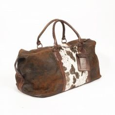 OMG! I NEED A SUGARDADDY, BECAUSE I WANT THIS!!!! Cowhide Floral Weekend  Bag from Old Gringo
