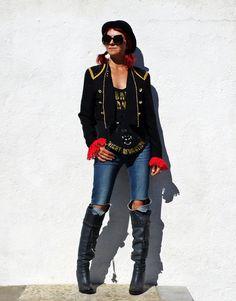Vintage Black Bolero Jacket / Sequin Jacket / by tomacrafts