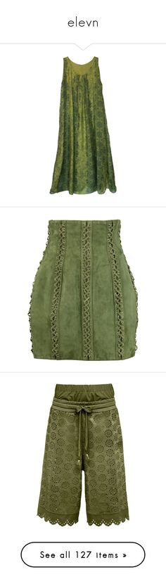 """""""elevn"""" by a-o-f-1992 on Polyvore featuring dresses, layered maxi dress, layered dress, maxi dress, long day dresses, long green dress, skirts, mini skirts, bottoms and saias"""