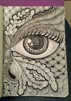 Trendy art ideas for adults painting zentangle Mandala Art Lesson, Mandala Artwork, Mandala Drawing, Dibujos Zentangle Art, Zentangle Drawings, Zentangles, Art Drawings Sketches Simple, Pencil Art Drawings, Doodle Art Designs
