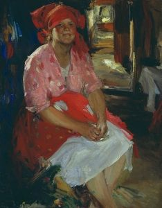 Woman in Pink - Abram Efimovich Arkhipov - The Athenaeum