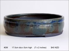 Quality stoneware medium bonsai pots for sale in New Zealand. Kiwi, Stoneware, Pots, Artists, Medium, Garden, Vases, Container Plants, Garten