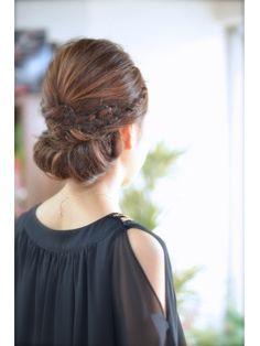 ☆Linola☆ネープシニヨンアレンジ【092-738-3773】 by George - 24時間いつでもWEB予約OK!ヘアスタイル10万点以上掲載!お気に入りの髪型、人気のヘアスタイルを探すならKirei Style[キレイスタイル]で。