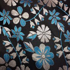 Brocade Chinese floral blossom oriental asian  Black/ Silver/blue Fabric | Casa, jardín y bricolaje, Artesanía y manualidades, Costura y mercería | eBay!
