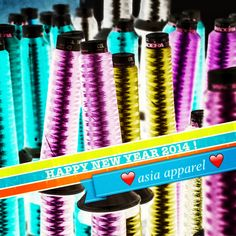 Embroidery threads Happy New Year 2014