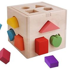 USD $ 29.99 - Baby Educational Toys Wooden Colorful Shape Block Box, Free Shipping On All Gadgets!