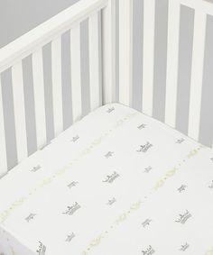 White Crown Organic Crib Sheet