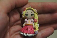 Rapunzel Chibi Polymer Clay Charm. $20.00, via Etsy.