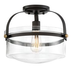 Burroway 1-Light Semi Flush Mount