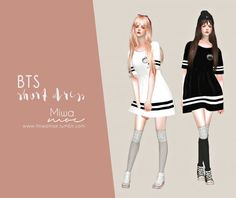 Miwamoe: BTS Short Dress • Sims 4 Downloads