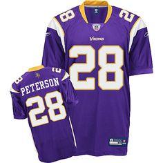 Reebok Minnesota Vikings Adrian Peterson Authentic Team Color Jersey Adrian Lewis, Football Run, Nfl Jerseys, National Football League, Minnesota Vikings, American Football, Reebok, Purple, Color