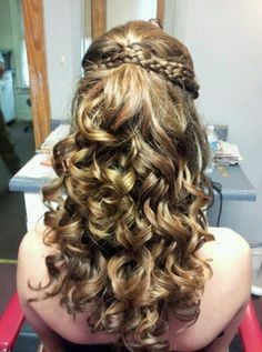 Gorgeous Curly Long Brunette Homecoming and Prom Hairstyle | short ...