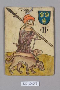 """Jäger [Hunter] Frankreich [France], """"Hofämterspiel"""" for King Ladislas of Hungary, """"Posthumus"""", c. 1455"""