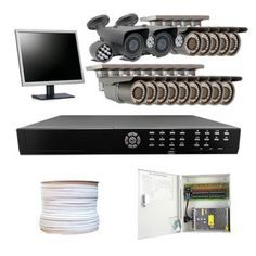 "Complete High End Professional 16 Channel Network HDMI DVR (2T Hard Drive) Surveillance CCTV Security Camera System Package w/ 2 x 600TVL 9-22mm Lens & 14 x 700TVL 2.8-12mm Lens 1/3"" Sony CCD Outdoor Camera + 1 Free 19"" Security Monitor by Gw. $2425.00. Package Includes: G-2556HD DVR with 2T HD; Remote Control and mouse; G-LCD19IN: Free 19"" LCD Flat Panel Display Monitor; 2 x G-509 - 1/3"" SONY CCD Camera; 14 x G-30WD - 1/3"" Exview HAD CCD II Camera; 1 x G-1000RG59: 1000 Feet R..."
