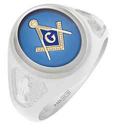 Mens Vermeil Masonic Freemason Mason Ring with Blue Stone Size 13 * Find out more about the great product at the image link.