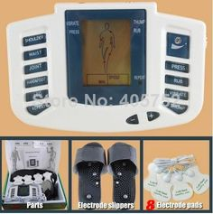 JR 309 Hot new Electrical Stimulator Full Body Relax Muscle Therapy Massager,Pulse tens Acupuncture with therapy slipper+ 8 pads-in Massage ...