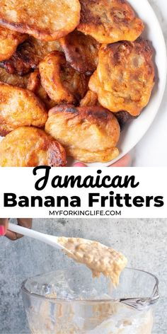 These Banana Fritters are the perfect way to use up those leftover bananas. A Caribbean favorite, these fritters are perfect for breakfast or snack. Carribean Food, Caribbean Recipes, Carribean Desserts, Healthy Caribbean Food, Jamaican Dishes, Jamaican Recipes, Jamaican Banana Fritters, Jamacian Food, Puerto Rico