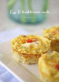 Egg and Hash Brown Nests | Special thanks to @Jamielyn {iheartnaptime.net}