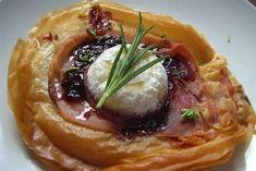 Croustillant au jambon de Bayonne et chèvre chaud