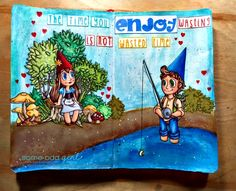 Gnome Girl, Fishing Gnome and Build a Background images from #someoddgirl
