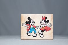 Mickey & Minnie At The Hop Rubber Stampede Wood & Foam Backed Rubber Stamp        http://autopartspuller.com/ Great Sale 50% off entire store!! Copper, Glassware, Wood Crafts, Scrap Booking   Also Find us on:  http://hometownvintage.com http://autopartspuller.com @HomeTownVintage @autopartspuller @preppershowto http://facebook.com/hometownvtg http://facebook.com/AutoPartsPuller