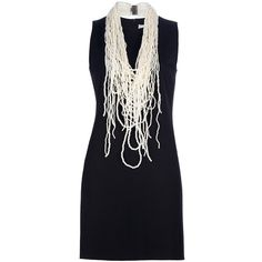 NORMALUISA fitted dress and necklace ($585) ❤ liked on Polyvore