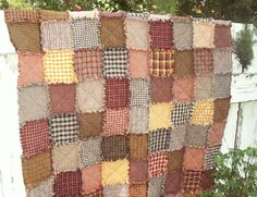 primitive rag quilt | Quilt Kit are shown above. This product is a quilt KIT, not a finished ...