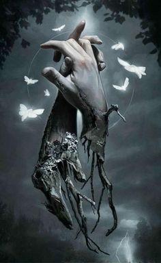 Tattoos Discover Macabre Supernatural Digital Paintings by David Seidman Dark Fantasy Art, Fantasy Kunst, Fantasy Artwork, Final Fantasy, Dark Gothic Art, Dark Artwork, Yuumei Art, Mädchen Tattoo, Body Tattoos