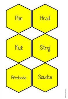 Produkt - HEXAGONY na vzory podstatných jmen Classroom, Class Room