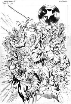 Bryan Hitch Marvel Universe Poster Art
