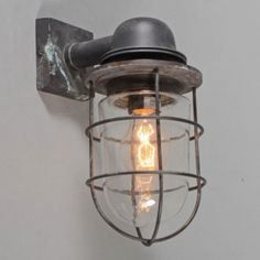 Shop for Wall Lamp Titanic Bronze online! Exterior Lighting, Home Lighting, Outdoor Lighting, Pots, Cool Lamps, Industrial Living, Shop Interior Design, Design Shop, Lamp Design