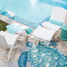 Looking for Outdoor Space and Swimming Pool ideas? Browse Outdoor Space and Swimming Pool images for decor, layout, furniture, and storage inspiration from HGTV. Swimming Pool Images, Swimming Pools, Tile Edge, Pool Picture, Indoor Outdoor Rugs, Outdoor Living, Luxury Home Decor, Chair And Ottoman, Folding Chair