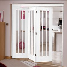 Merveilleux Great Looking NuVu Folding Doors, Lincoln Style White 3 Door Set Opening To  The Left