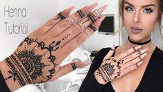 How To: Henna Tutorial – Henna Tattoos Mehendi Mehndi Design Ideas and Tips Cute Henna Designs, Beginner Henna Designs, Henna Tattoo Designs, Mehndi Designs For Hands, Easy Designs, Henna Ink, Henna Tattoo Hand, Henna Mehndi, Mehendi