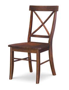 X-Back Hardwood Dining Chair