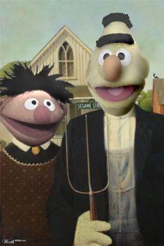 American Gothic Muppets Bert & Ernie