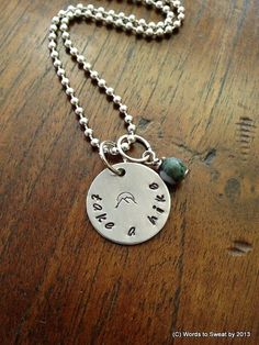 Hey, I found this really awesome Etsy listing at https://www.etsy.com/listing/188871346/take-a-hike-hiking-mantra-necklace-with
