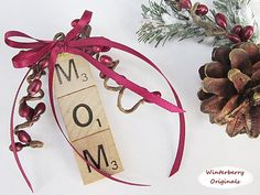 Scrabble Tile Ornament - MOM