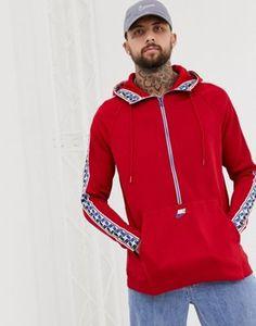 Shop Nike Half Zip Hoodie With Taped Side Stripe In Red at ASOS. Nike Half Zip, Zip Hoodie, Must Haves, Hooded Jacket, Asos, Athletic, Hoodies, Red, Jackets