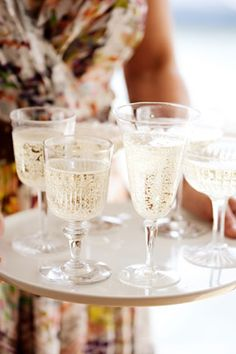 mixed glasses for wine or champagne