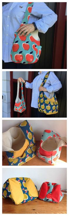 Summer Festival Sling Bag - FREE Pattern - Sew Modern Bags a .Summer Festival Sling Bag - FREE Pattern - Sew Modern Bags an easy-to-sew, reversible bag with a casual boho vibe. Handbag Patterns, Bag Patterns To Sew, Tote Pattern, Sewing Patterns Free, Free Sewing, Sewing Box, Pattern Sewing, Sewing Tools, Sewing Projects