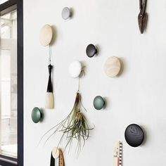 The Dots from Muuto are a series of coat hooks designed to be mounted and arranged on your wall decoratively. Muuto Dot hooks look as good on their own as they do holding coats in your hallway. Wall Hanger, Wall Hooks, Circle Hook, Messy Bedroom, Wall Storage Shelves, Muuto, Wall Key Holder, Wood Circles, Design Shop